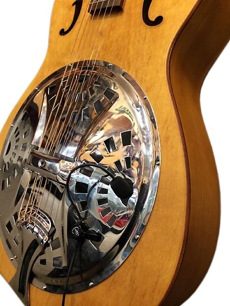 the feather dobro hound dog round neck resonator guitar reverb. Black Bedroom Furniture Sets. Home Design Ideas