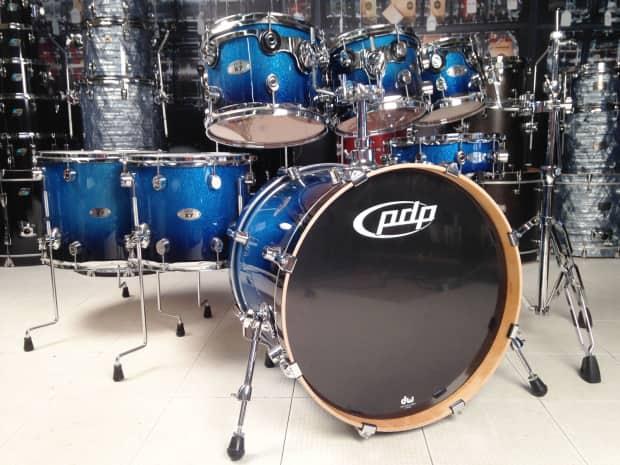 used pdp x7 7pc drum set blue sparkle fade lacquer reverb. Black Bedroom Furniture Sets. Home Design Ideas