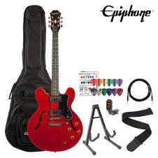 Epiphone Dot Cherry Finish Semi Hollow Electric Guitar Kit w Gig Bag, Stand image