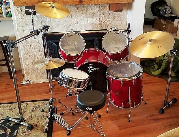 Gretsch usa custom kit jasper shells cannon kick bass drum for 18x18 floor tom