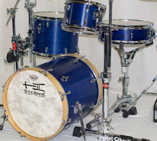 Custom maple 4 piece nesting compact drums treehouse drums for 18x18 floor tom