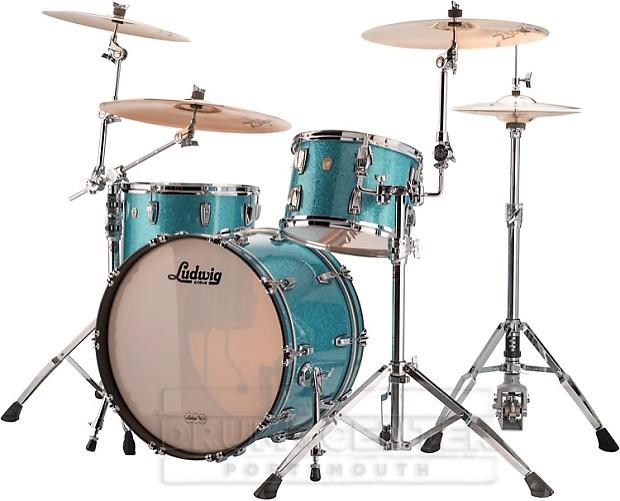 ludwig classic maple fab22 3pc drum set teal sparkle reverb. Black Bedroom Furniture Sets. Home Design Ideas
