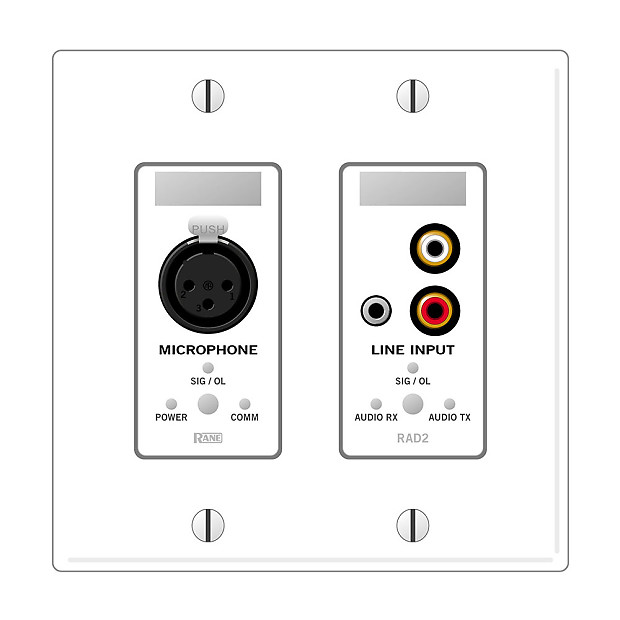 rane rad2w remote audio device for mongoose system  white