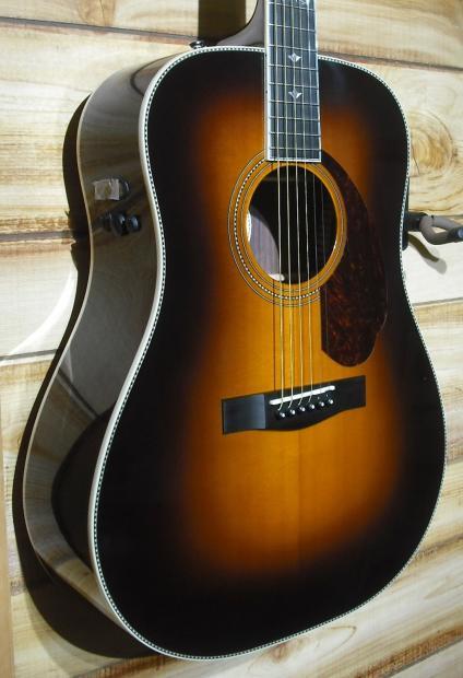 new fender pm 1 deluxe dreadnought acoustic electric guitar vintage sunburst w case reverb. Black Bedroom Furniture Sets. Home Design Ideas