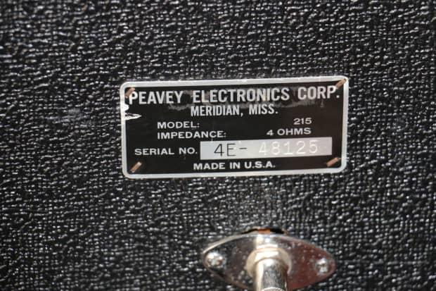 Vintage peavey bass 2 15 armarios