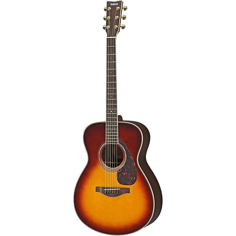 Yamaha ls6r symphony acoustic electric guitar with hard for Yamaha acoustic electric guitar