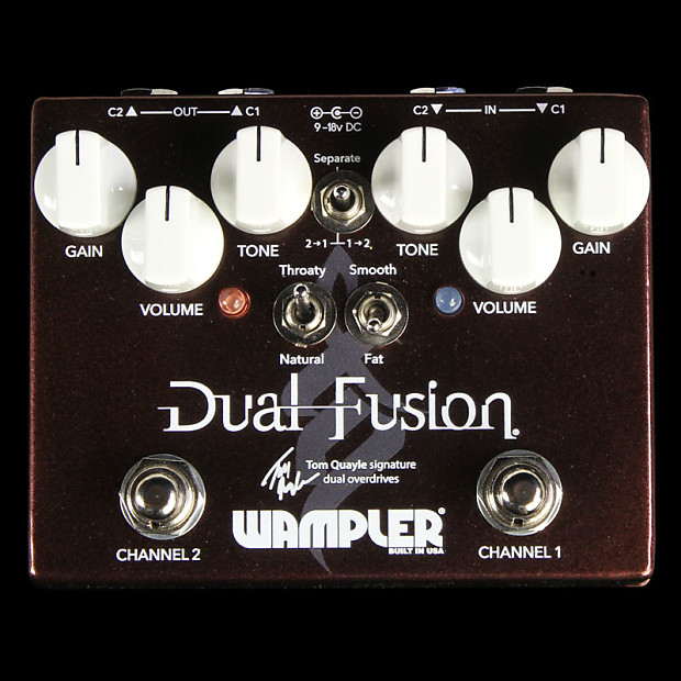wampler tom quayle dual fusion distortion effect pedal reverb. Black Bedroom Furniture Sets. Home Design Ideas