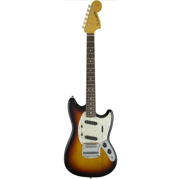 fender 65 mustang 3 tone sunburst 6 string electric guitar reverb. Black Bedroom Furniture Sets. Home Design Ideas