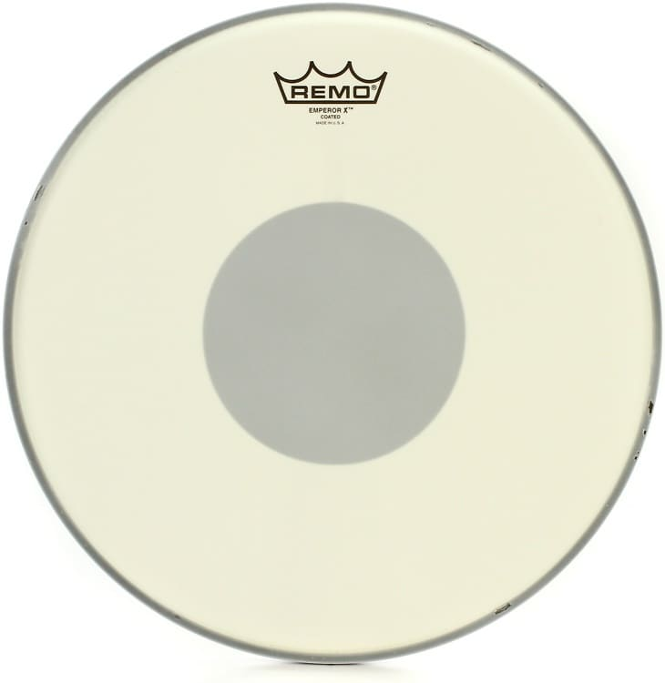 remo emperor x coated drum head 14 with black dot reverb. Black Bedroom Furniture Sets. Home Design Ideas