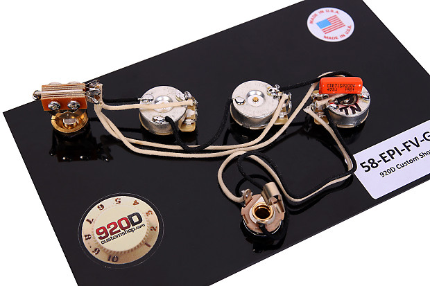 920d wiring harness for 58 gibson epiphone flying v gold reverb