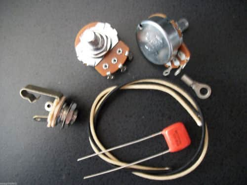 basic wiring kit for p bass us spec pots 047uf 716p orange reverb