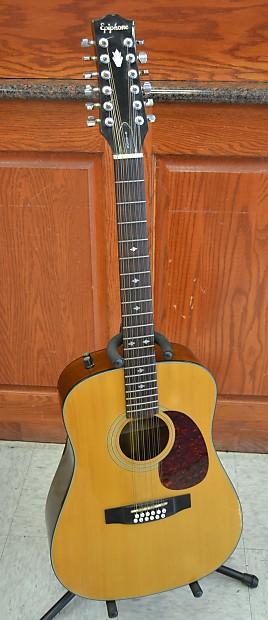 gibson epiphone pr350 12e 12 string acoustic electric guitar reverb. Black Bedroom Furniture Sets. Home Design Ideas