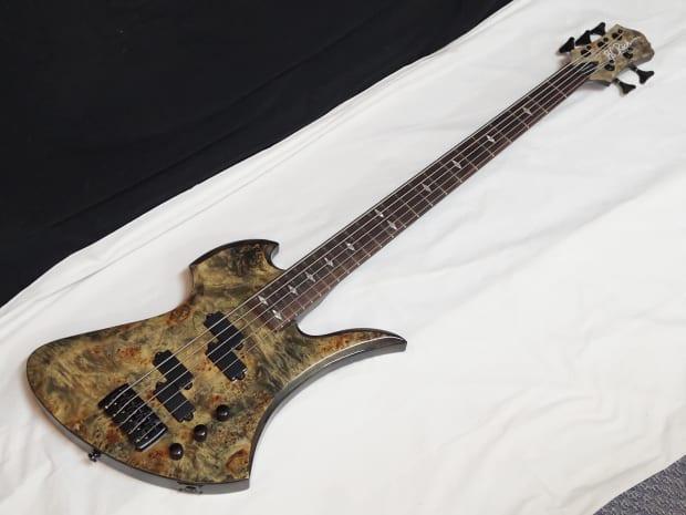 BC RICH Mockingbird Plus 5-string BASS guitar Ghost Black