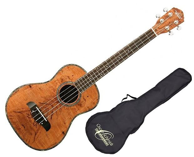 oscar schmidt ou57 spalted mango baritone ukulele with gig reverb. Black Bedroom Furniture Sets. Home Design Ideas