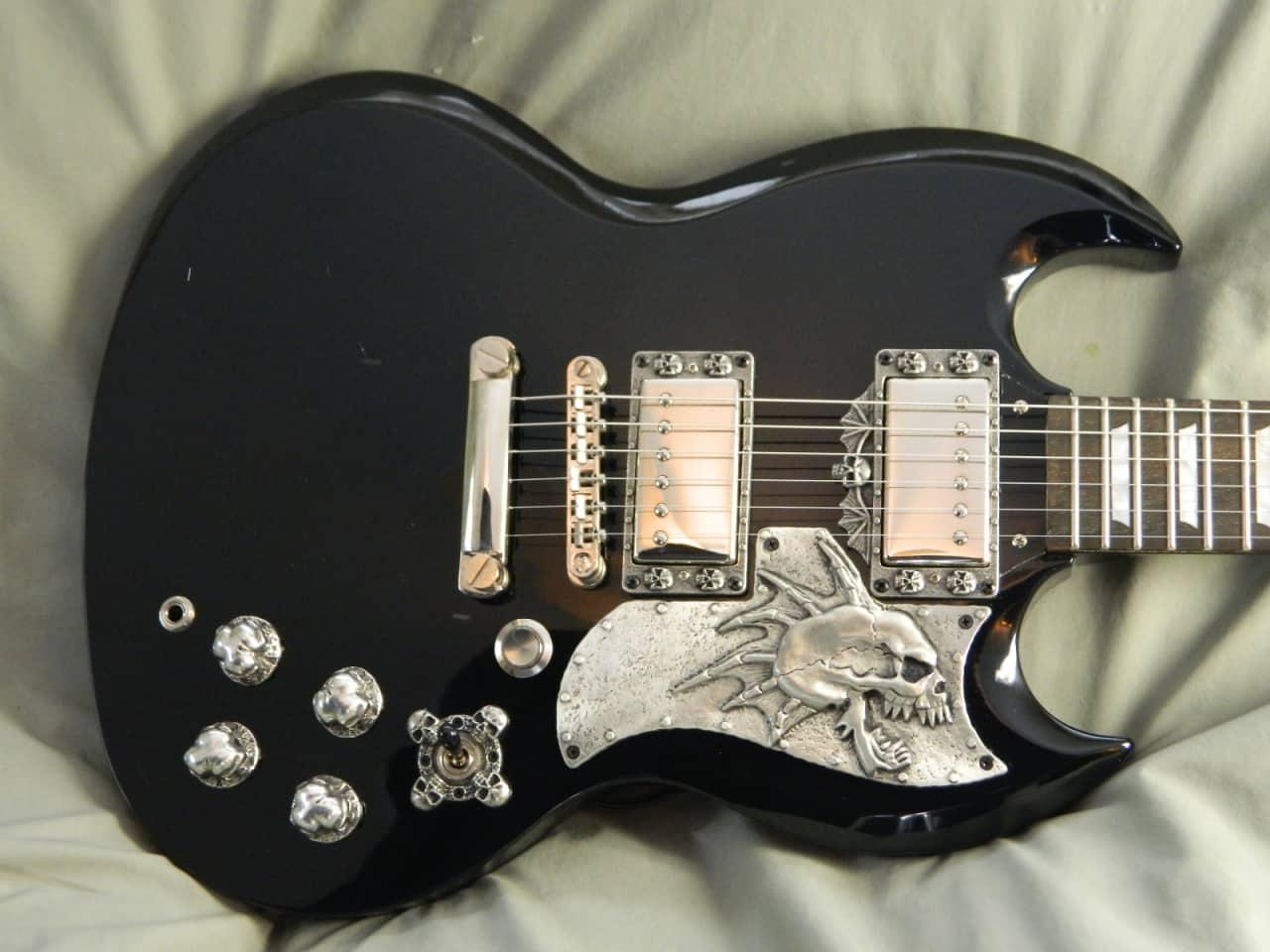 8 metal skull guitar parts fits epiphone g 400 sg reverb. Black Bedroom Furniture Sets. Home Design Ideas