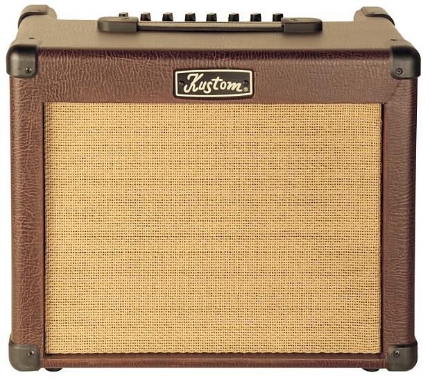 kustom 35 watt sienna pro acoustic guitar combo amp with reverb. Black Bedroom Furniture Sets. Home Design Ideas