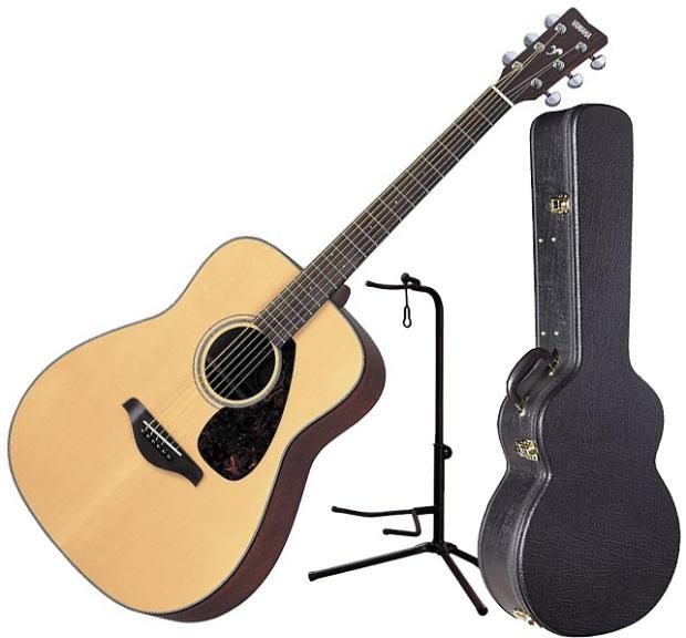 yamaha fg700s solid top acoustic guitar w hardshell case. Black Bedroom Furniture Sets. Home Design Ideas