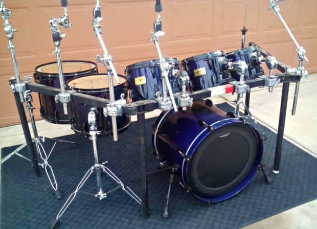 Pearl Masters Custom Maple 6 Pc Drum Kit With Rack System