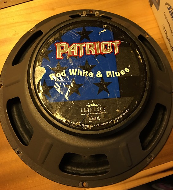 eminence patriot guitar speaker red white and blues 120w reverb. Black Bedroom Furniture Sets. Home Design Ideas
