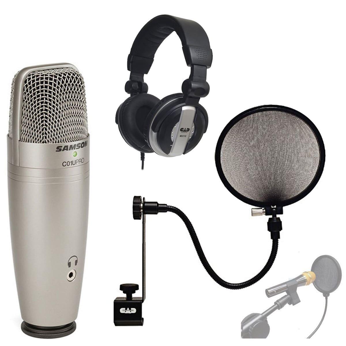 samson c01u pro usb studio condenser microphone with with reverb. Black Bedroom Furniture Sets. Home Design Ideas