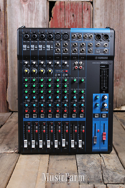 Yamaha mg series 12 channel analog mixing console studio for Yamaha live console