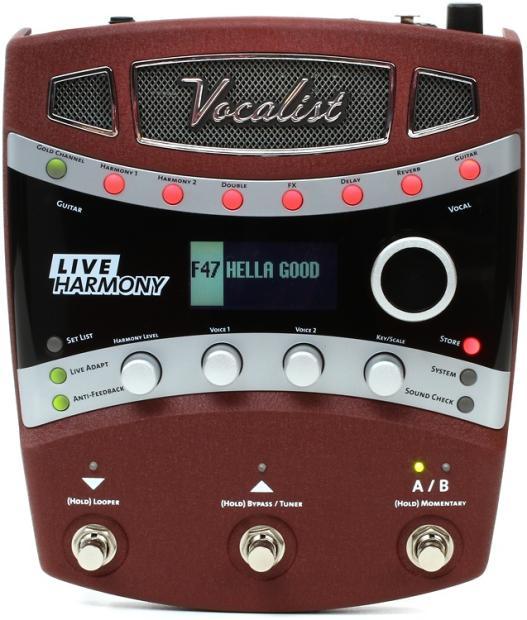 new digitech vocalist live harmony vocal effects pedal reverb. Black Bedroom Furniture Sets. Home Design Ideas