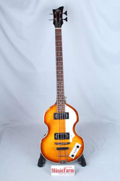 Used Rogue Vb100 Violin Bass Guitar Vintage Sunburst Reverb