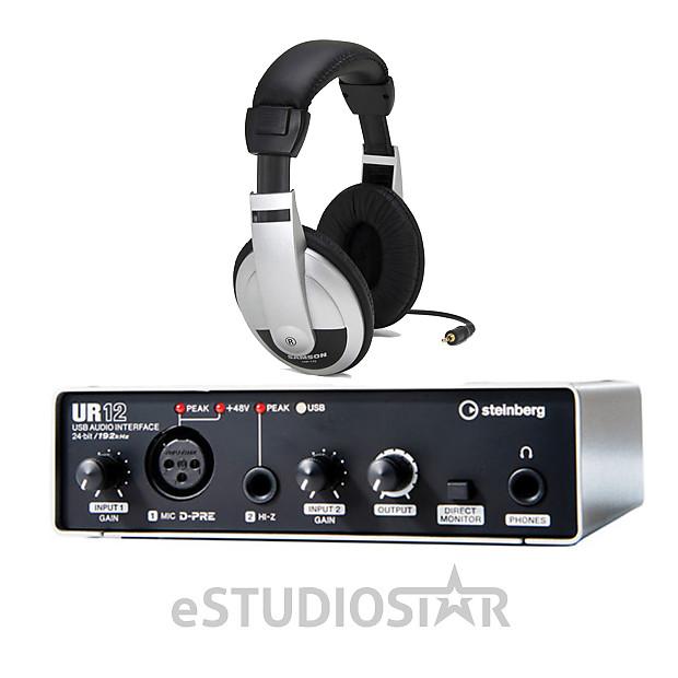 steinberg ur12 usb audio interface with headphone reverb. Black Bedroom Furniture Sets. Home Design Ideas