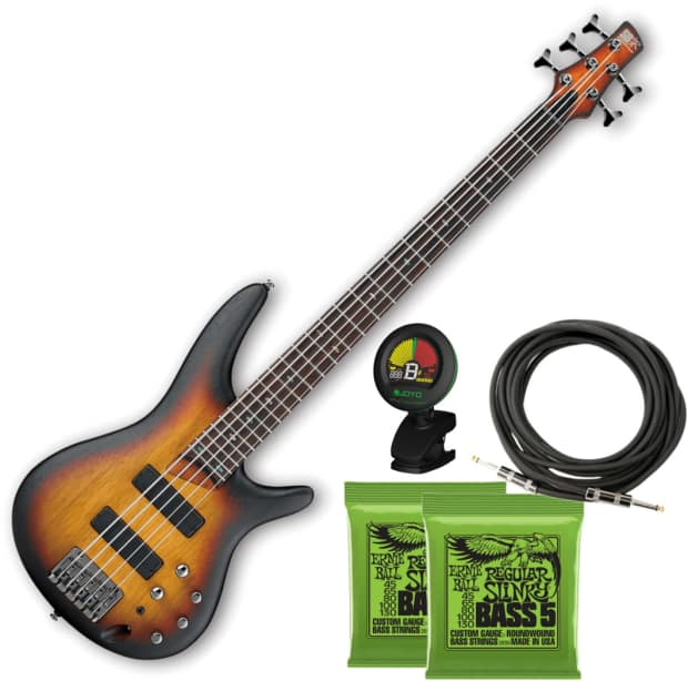 ibanez sr505 5 string electric bass guitar flat tri fade reverb. Black Bedroom Furniture Sets. Home Design Ideas