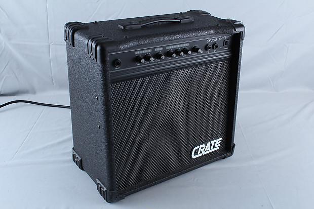 used crate gx 20m 20 watt guitar amplifier w reverb chorus 10 reverb. Black Bedroom Furniture Sets. Home Design Ideas