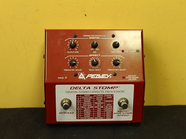 peavey delta stomp digital effects processor reverb. Black Bedroom Furniture Sets. Home Design Ideas