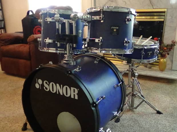 Sonor Sonic Plus 1996 Satin Blue Denim Reverb