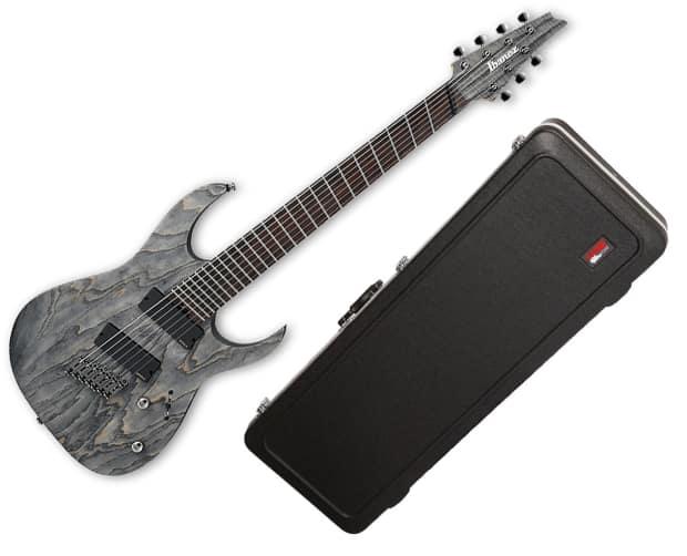 ibanez rg iron label fanned fret 7 string guitar black reverb. Black Bedroom Furniture Sets. Home Design Ideas