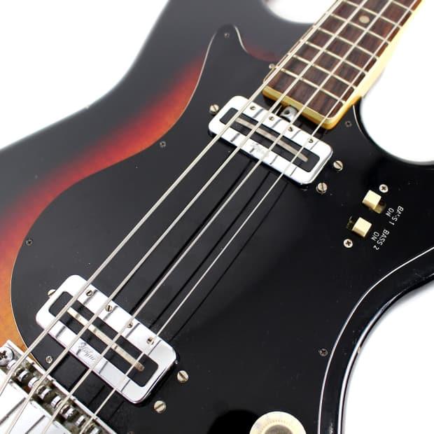 vintage hofner solid body electric bass guitar sunburst reverb. Black Bedroom Furniture Sets. Home Design Ideas