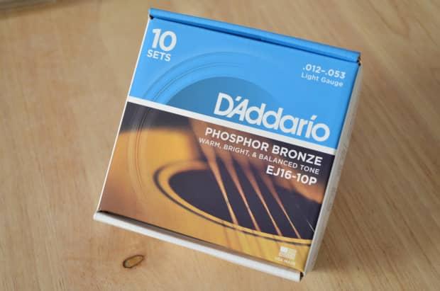 d 39 addario 10 pack ej16 phosphor bronze light gauge 012 reverb. Black Bedroom Furniture Sets. Home Design Ideas