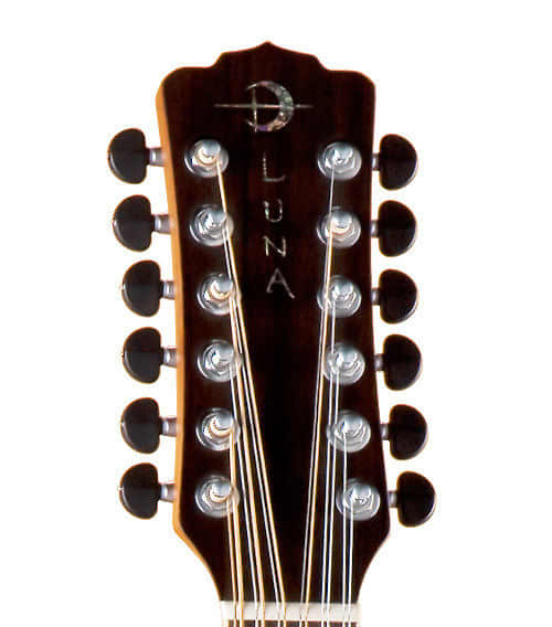 luna muse 12 string guitar acoustic electric new case reverb. Black Bedroom Furniture Sets. Home Design Ideas