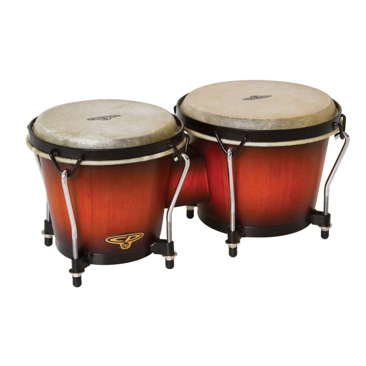 Latin percussion cp wood bongos vintage sunburst reverb