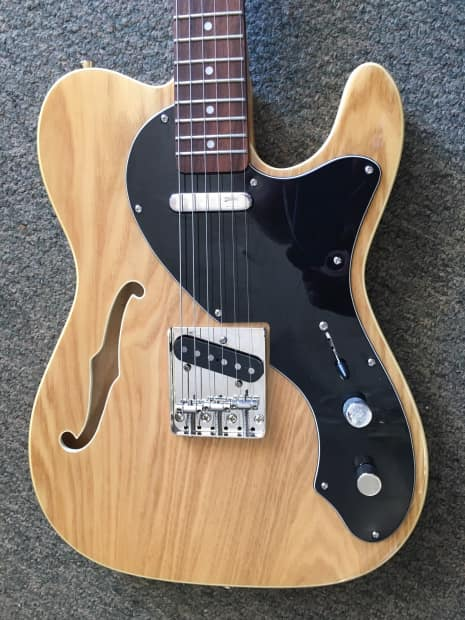 Jay Turser Telecaster Thinline F Hole 2015 Natural Wood