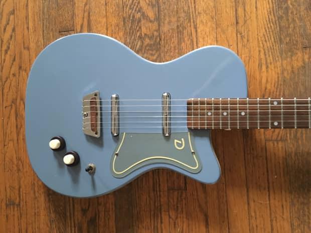 Danelectro '56 Reissue U2 Electric Guitar 2001 Azure Blue