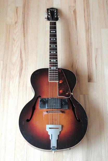 1930s recording king by regal vintage electric archtop guitar sunburst w case reverb. Black Bedroom Furniture Sets. Home Design Ideas
