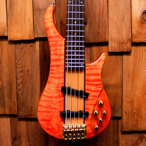 dean razor nt 5 string bass with quilted top neck thru reverb. Black Bedroom Furniture Sets. Home Design Ideas