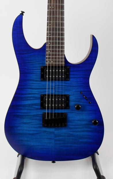 ibanez rg6003fm electric guitar transparent blue flamed maple top incl strap and picks reverb. Black Bedroom Furniture Sets. Home Design Ideas