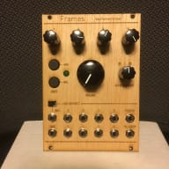 Mutable Instruments Frames w/ custom wood faceplate!