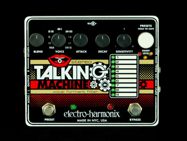 new ehx electro harmonix stereo talking machine vocal guitar reverb. Black Bedroom Furniture Sets. Home Design Ideas