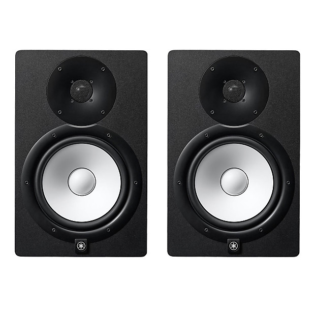 yamaha hs8 powered studio monitors pair used reverb