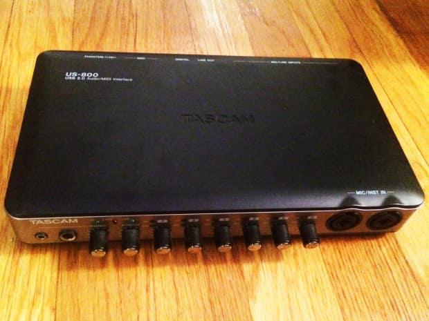 tascam us 800 8 channel usb audio interface 8 inputs reverb. Black Bedroom Furniture Sets. Home Design Ideas