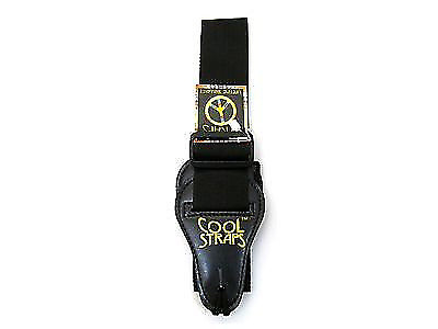 cool straps deluxe guitar black poly 2 wide leather ends reverb. Black Bedroom Furniture Sets. Home Design Ideas