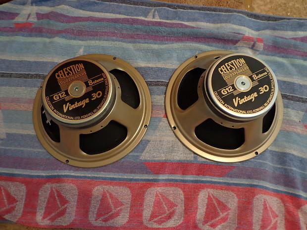 celestion vintage 30 speakers made in england one pair reverb. Black Bedroom Furniture Sets. Home Design Ideas