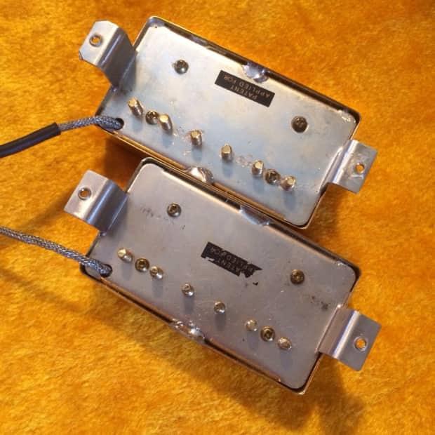 Gibson Pair 2 57 Classic Paf Sticker Humbucker Pickups