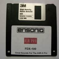 Ensoniq ASR X Pro FDX-100 Sound Disk